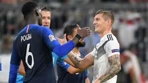 Toni Kroos Paul Pogba Germany France 2018