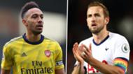 Pierre-Emerick Aubameyang Harry Kane Arsenal Tottenham 2019-20