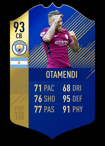 FIFA 18 Team of the Season Otamendi