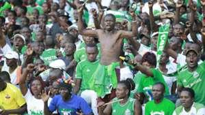 Gor Mahia fans v Zamalek in Kasarani.