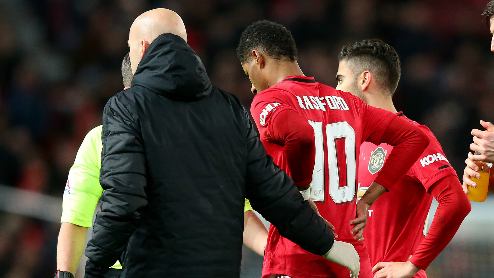 Rashford 'gutted' with back injury that could rule Man Utd star out of Liverpool clash
