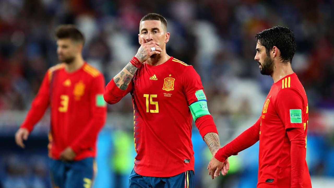Sergio Ramos Isco Spain Morocco World Cup 2018 250618