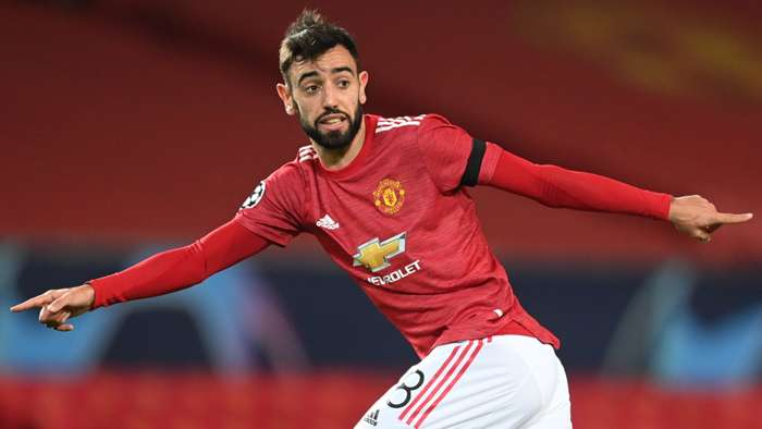 Bruno Fernandes, Man Utd, Champions League 2020-21