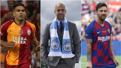 Radamel Falcao Pep Guardiola Lionel Messi