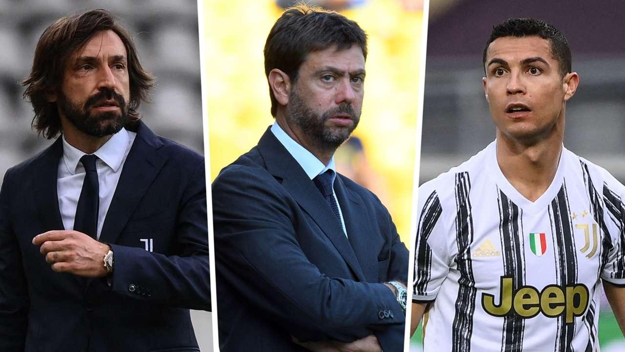 Andrea Pirlo Andrea Agnelli Cristiano Ronaldo Juventus GFX