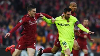 Andy Robertson, Lionel Messi, Liverpool vs Barcelona 2018-19