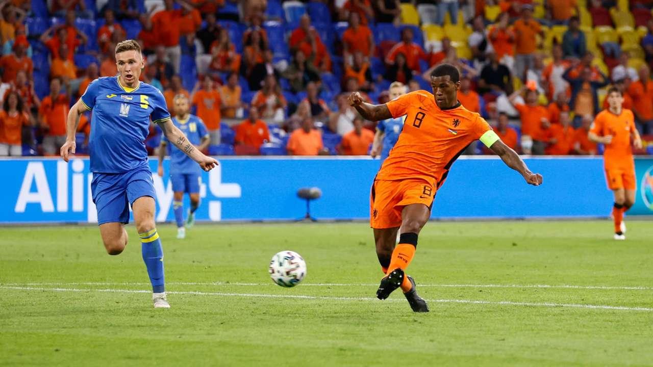 Georginio Wijnaldum Netherlands vs Ukraine Euro 2020