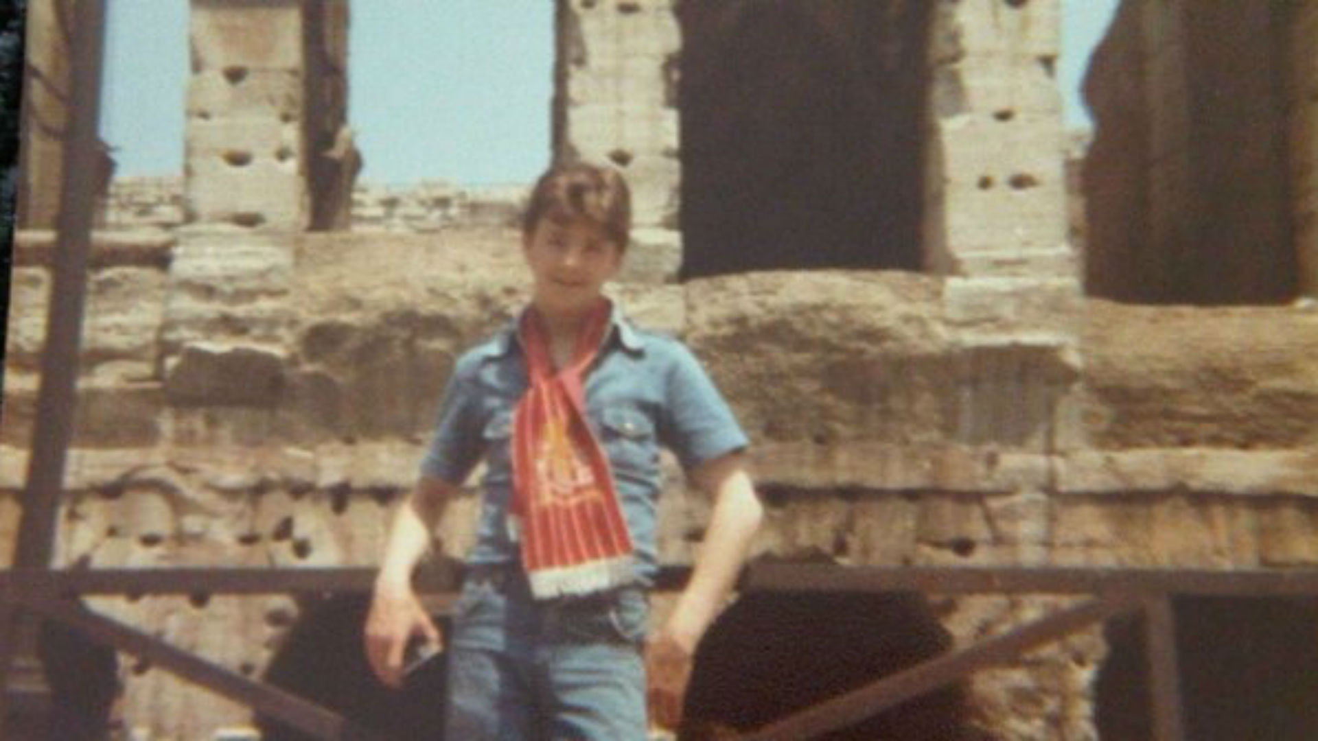 Liverpool fan Stephen Monaghan in Rome, 1977