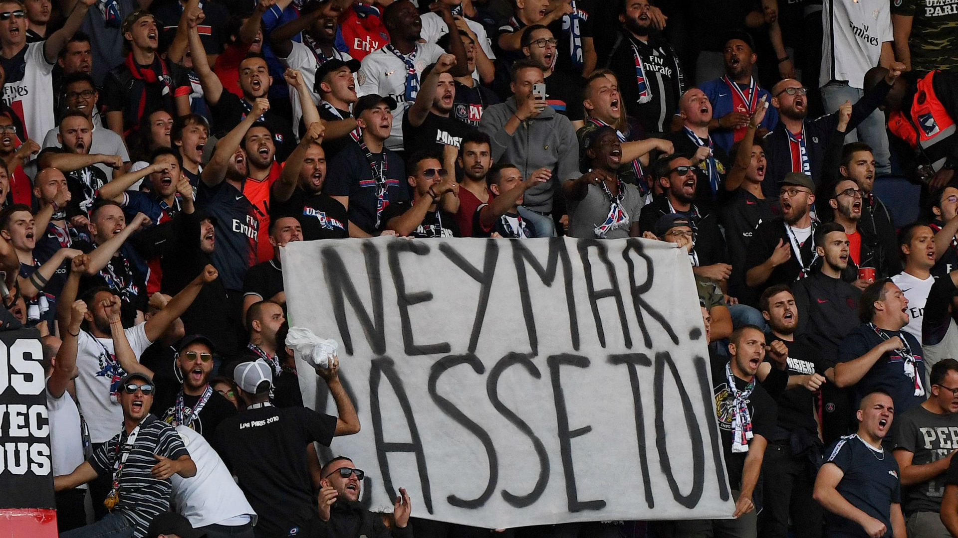 PSG fans insults Neymar PSG Nimes Ligue 1 11082019