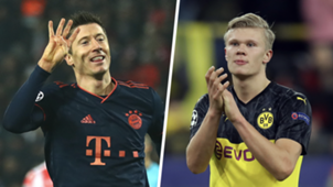 Lewandowski Haaland Champions League top scorers 2019-20