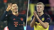 Lewandowski Haaland Champions League top scorers 2019-20