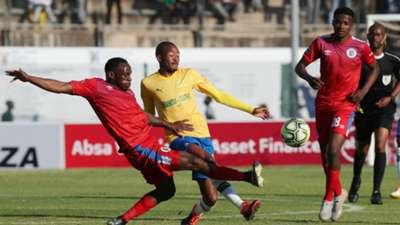 Mamelodi Sundowns v SuperSport United - August 2019 Thapelo Morena and Onismor Bhasera
