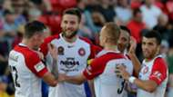 Rob Cornthwaite Newcastle Jets v Western Sydney Wanderers A-League 01042017