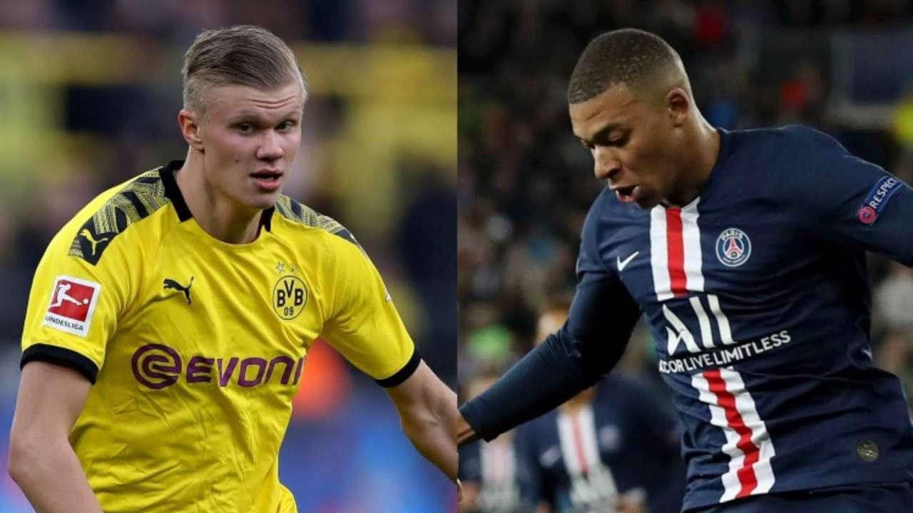 Erling Haaland Dortmund Kylian Mbappe PSG 2019-20