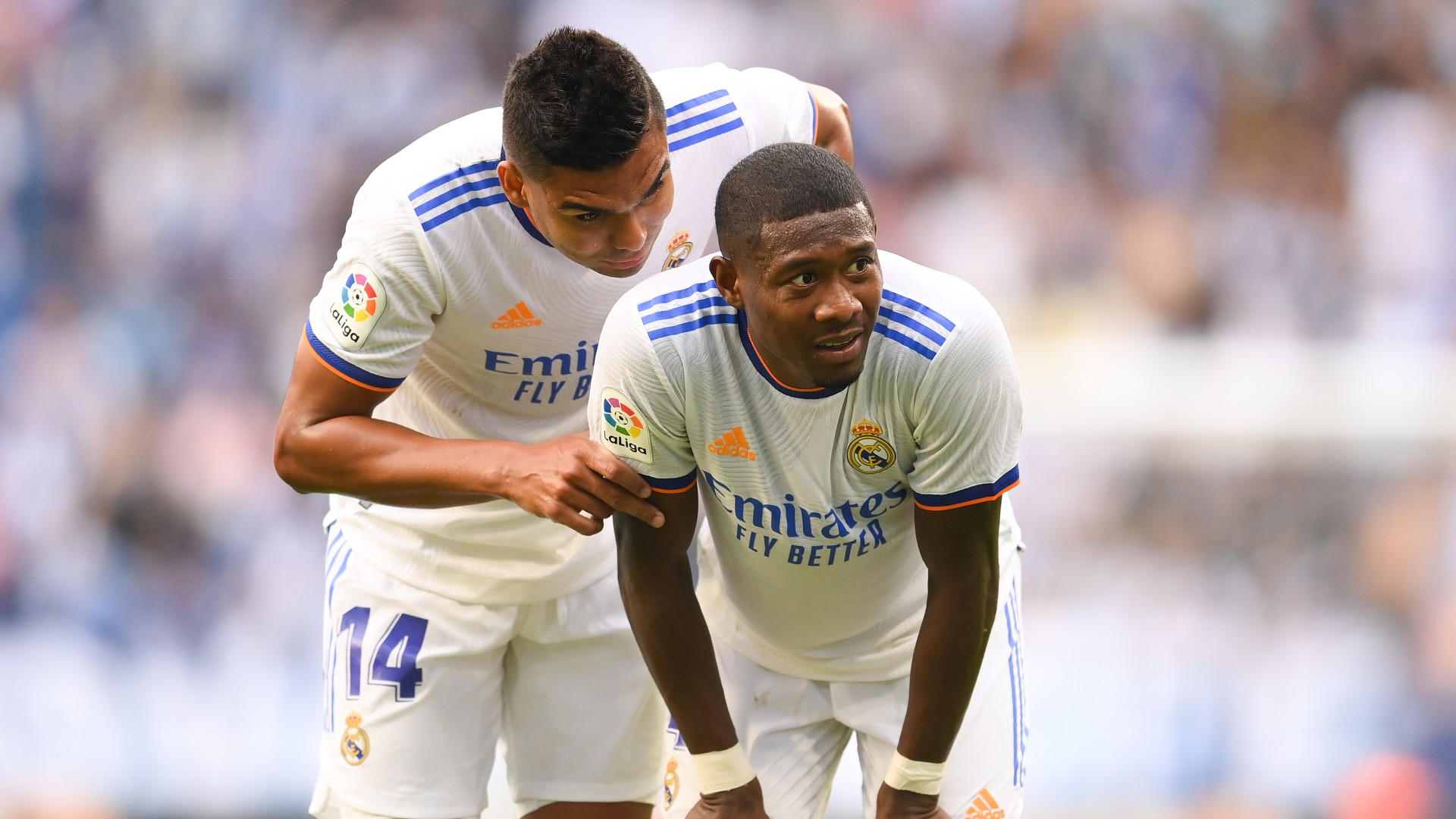 Real Madrid sweating on Alaba availability for Clasico as he returns from Austria duty with knee injury