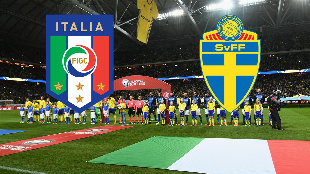 Aufstellung Italien Schweden