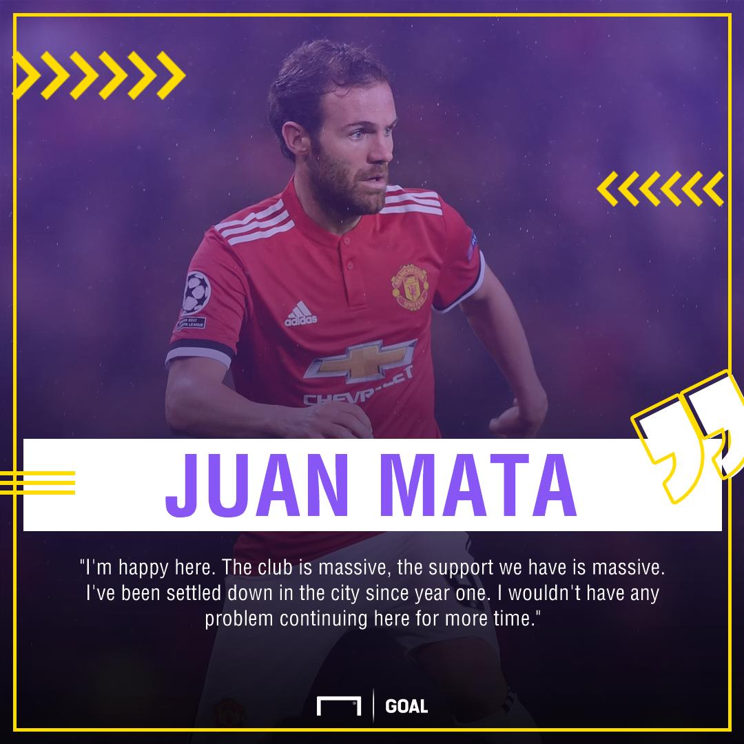Juan Mata Manchester United contract