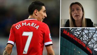 Angel Di Maria Jorgelina Cardoso Old Trafford