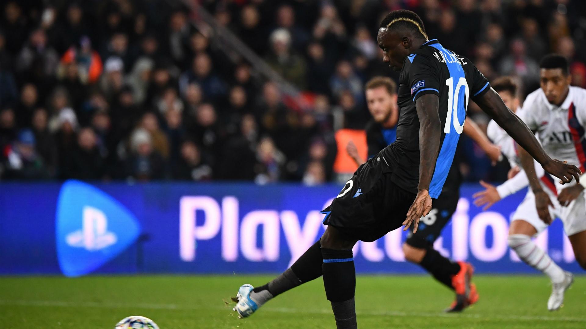 Club Brugge Punish Mbaye Diagne For Missing Penalty Against PSG Goal com