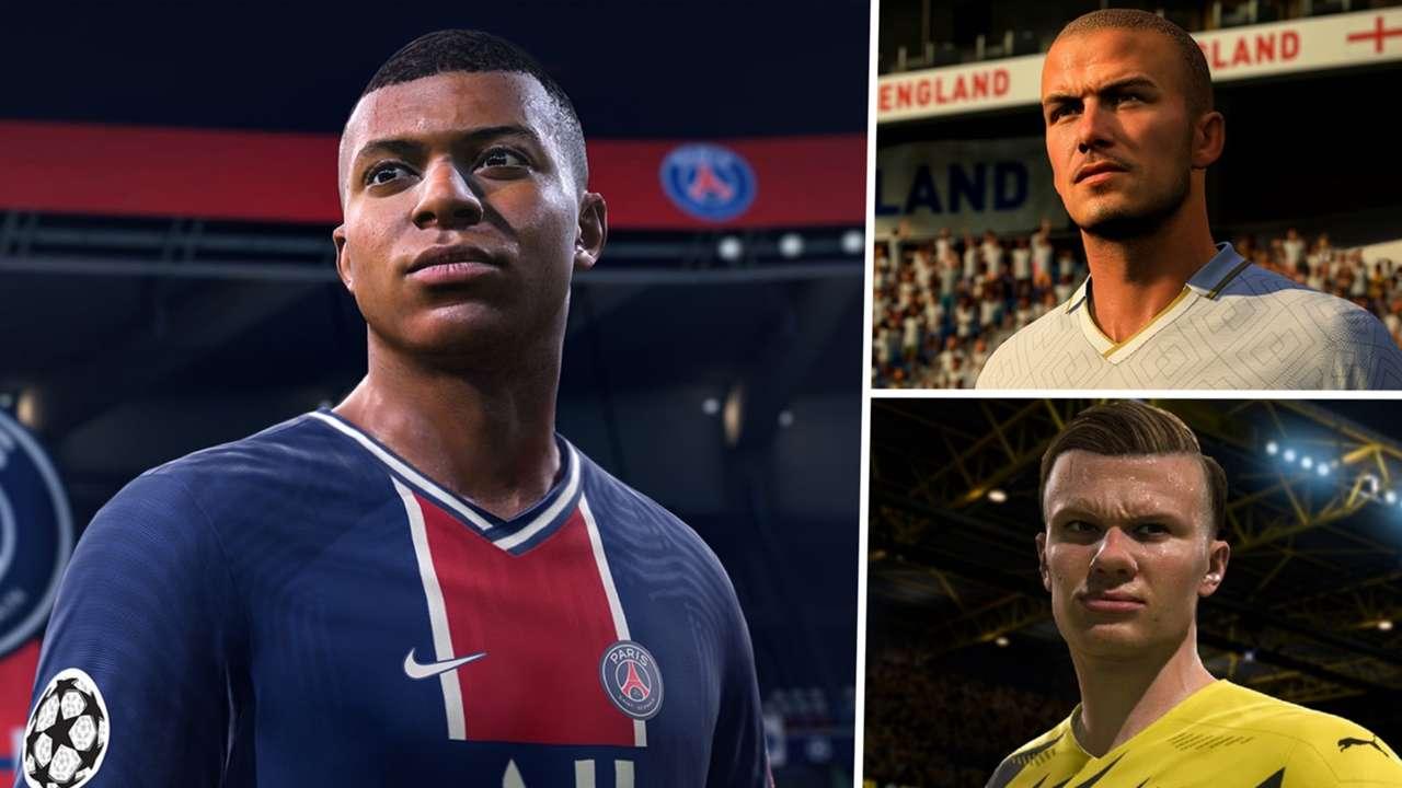 FIFA 21 Kylian Mbappe David Beckham Erling Haaland