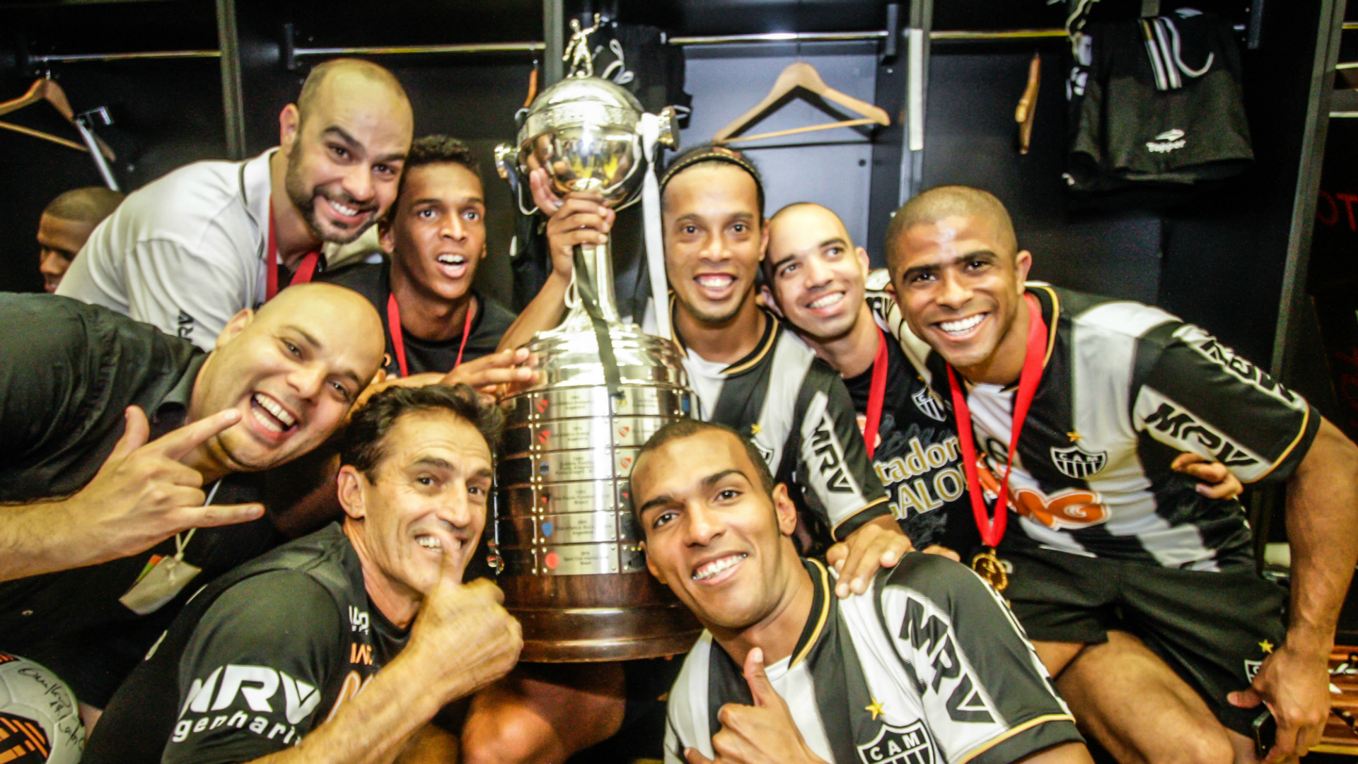Ronaldinho Diego Tardelli Richarlyson Atlético-MG Olimpia 24072013 Copa Libertadores