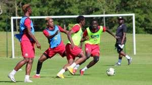 Harambee Stars players in training.