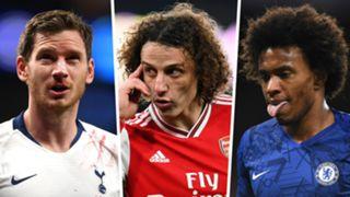 Jan Vertonghen David Luiz Willian Out Of Contract Premier League