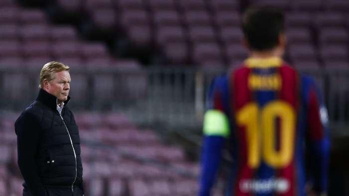Ronald Koeman Lionel Messi Barcelona 2020-21