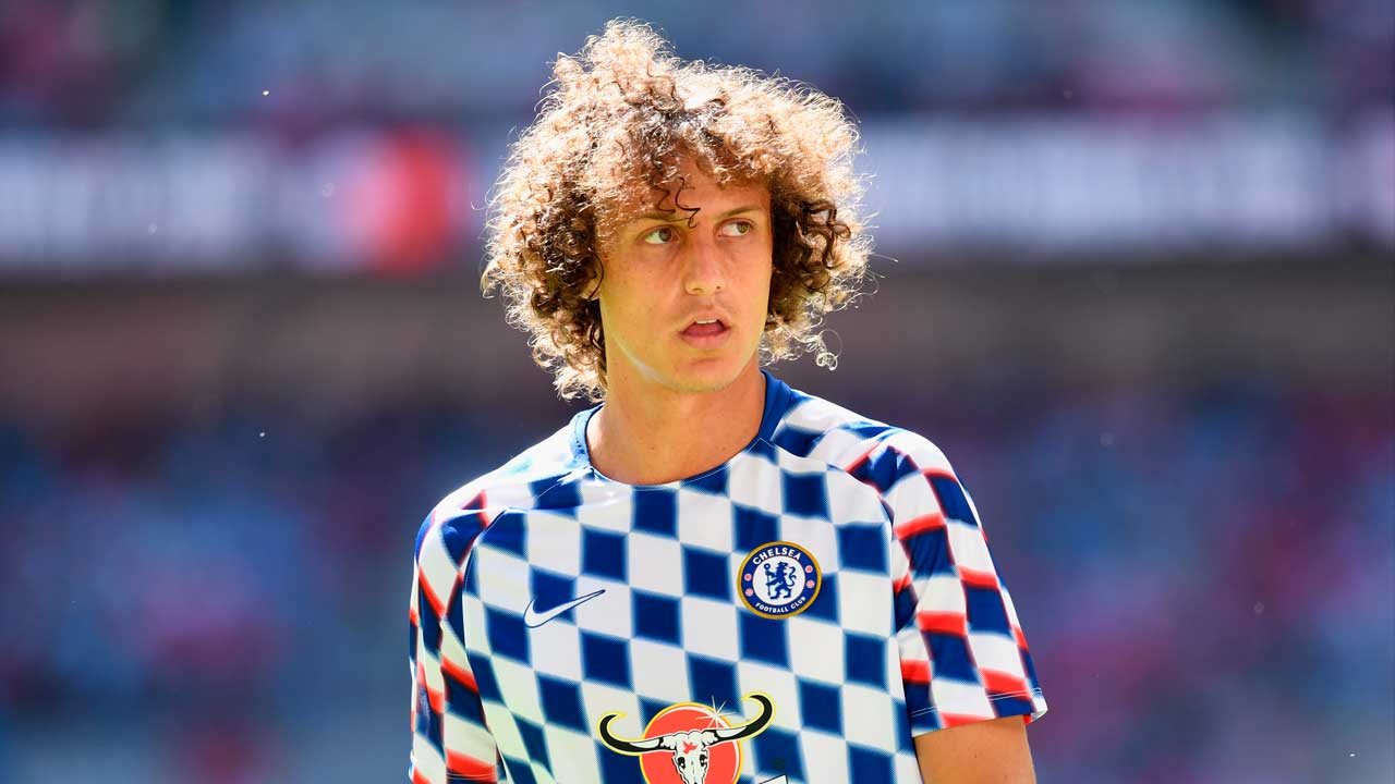 David Luiz Chelsea versus Man City