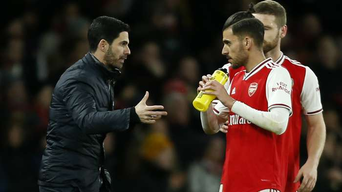 Mikel Arteta Dani Ceballos Arsenal 2019-20
