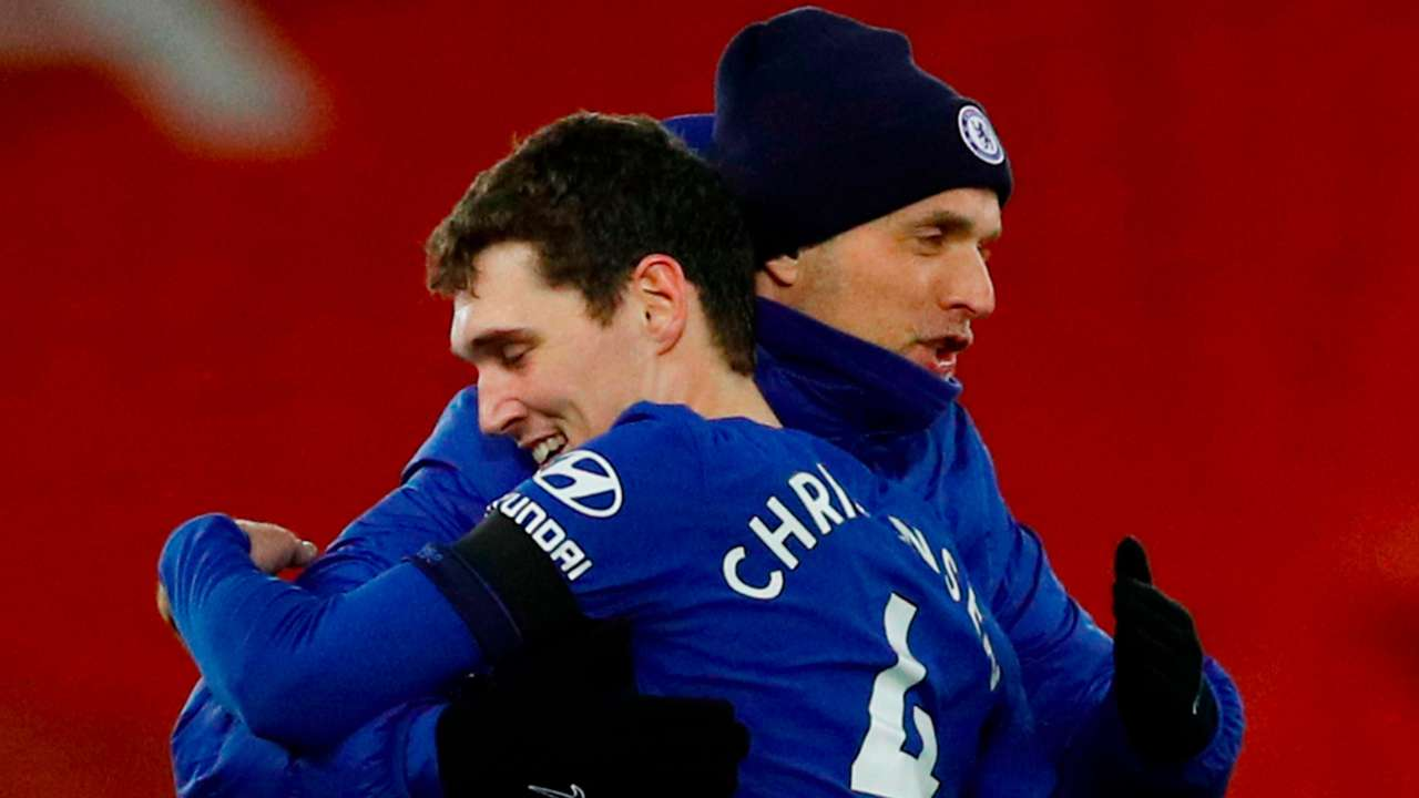 Andreas Christensen and Thomas Tuchel Chelsea