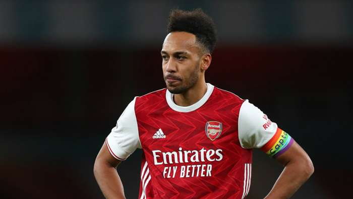 Pierre-Emerick Aubameyang Arsenal vs Burnley Premier League 2020-21