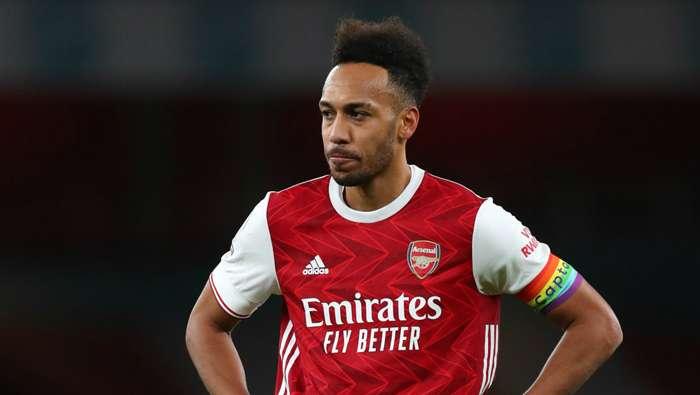 Pierre-Emerick Aubameyang Arsenal vs Burnley Premier League 2020-21