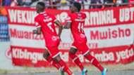 Luis Miquissone and Larry Bwalya of Simba SC.