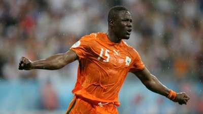 Aruna Dindane of Ivory Coast celebrates during the 2006 World Cup