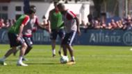 Arturo Vidal. Práctica Bayern Munich. Captura TV