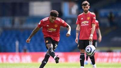 Marcus Rashford Leeds vs Man Utd Premier League 2020-21