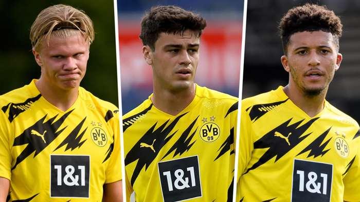 Erling Haaland Gio Reyna Jadon Sancho Borussia Dortmund GFX