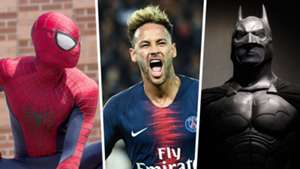 Spider-Man, Neymar, Batman