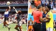 Diego Maradona Carlos Sanchez Handballs Split