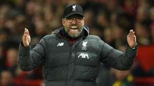 Jurgen Klopp Man Utd vs Liverpool 2019-20