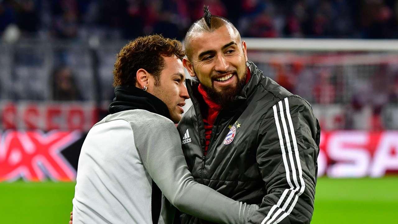 Arturo Vidal Neymar Bayern PSG 2017