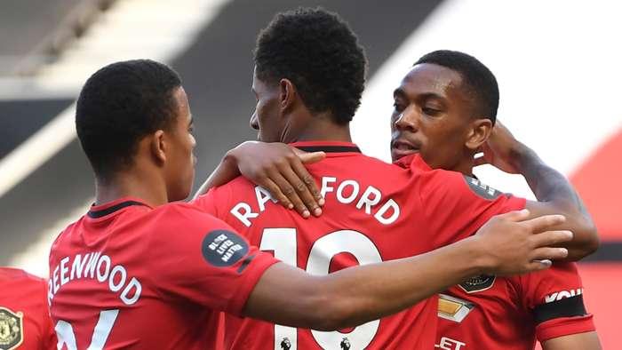 Mason Greenwood Marcus Rashford Anthony Martial Man Utd 2019-20