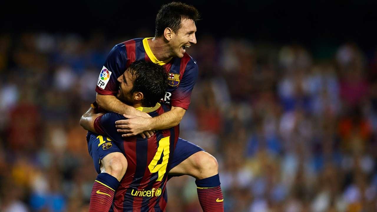 Lionel Messi Cesc Fabregas Barcelona