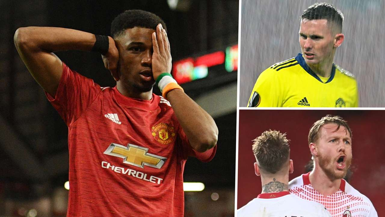 Amad Diallo, Dean Henderson, Simon Kjaer AC Milan Manchester United GFX