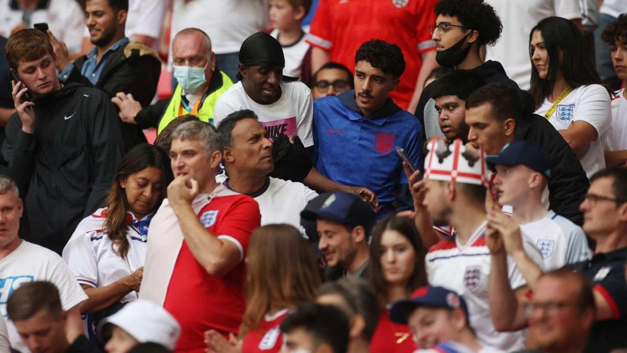 England fan security guard Wembley Euro 2020 final