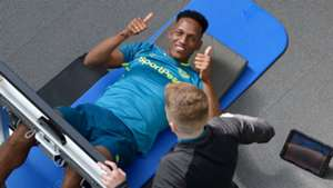 Yerry Mina pretemporada en Everton 2019