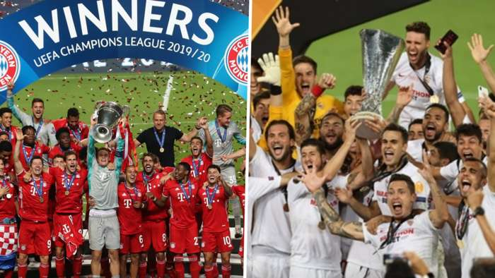 Bayern Munich Champions League Sevilla Europa League composite