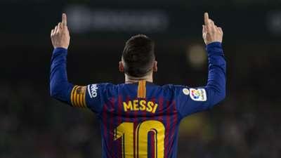 Lionel Messi celebrates vs Real Betis, March 2019