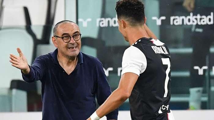 Cristiano Ronaldo Sarri Juventus Lazio Serie A